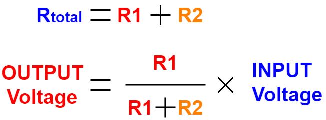 Figure 6: Voltage Division Formula